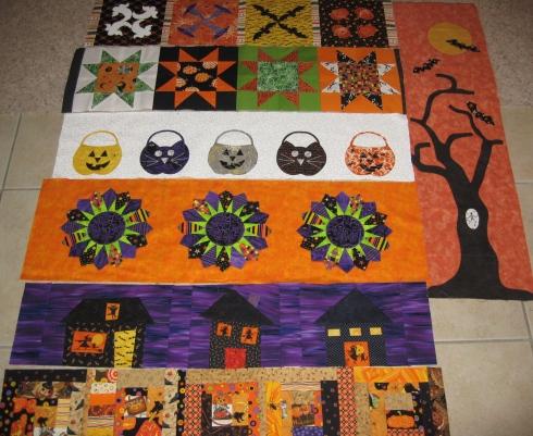 sewmod row quilt halloween