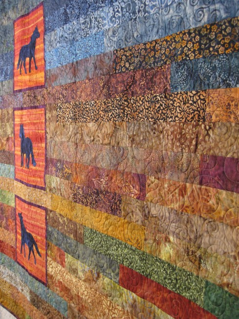 Batik horse quilt
