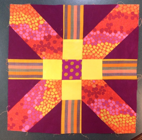 x and + quilt block tutorial SewMod