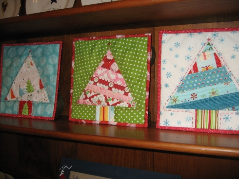 Paper Pieced Christmas Trees Sewmod