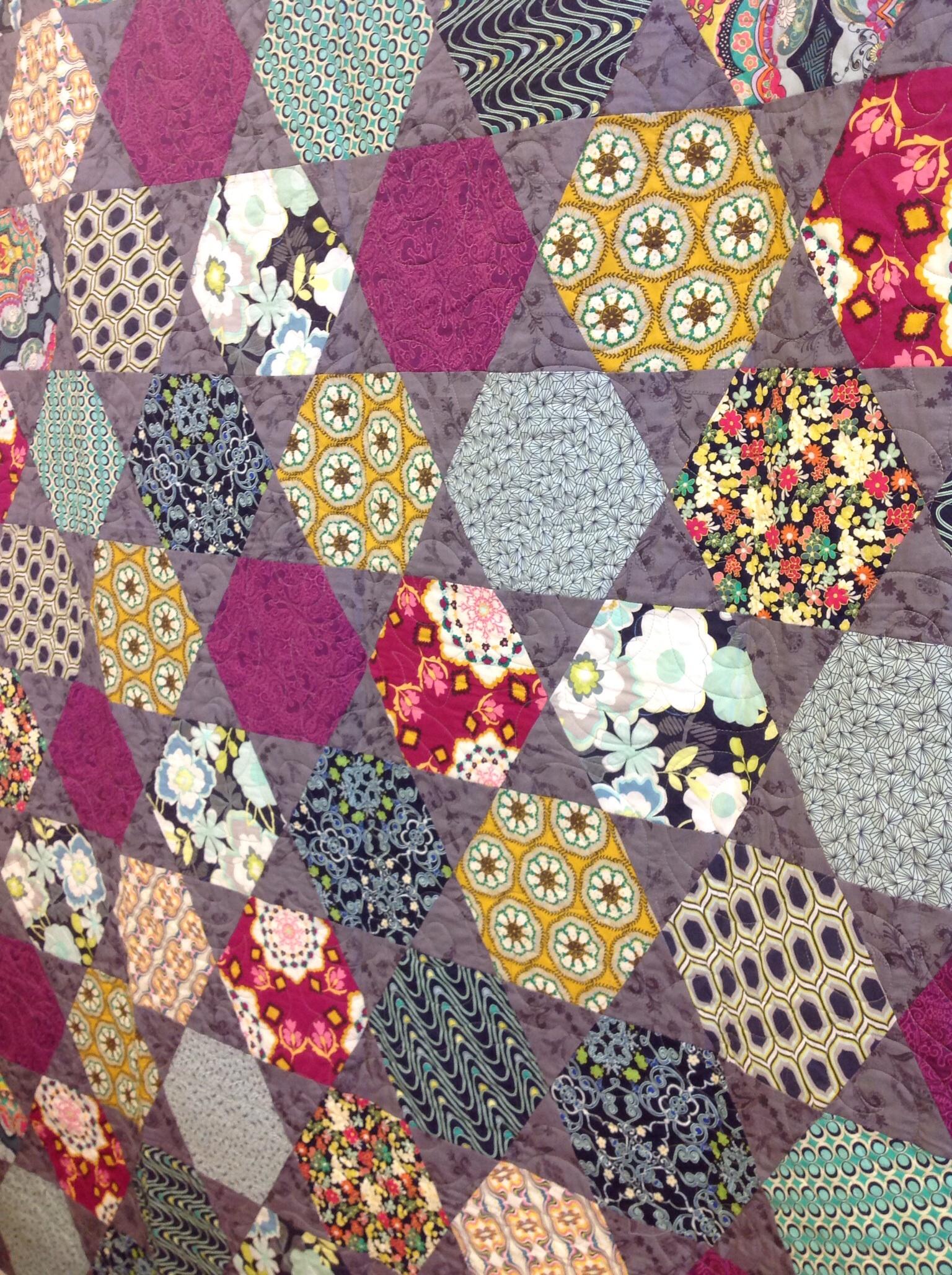 DIY baby quilt kits | SewMod : hexagon quilt kit - Adamdwight.com