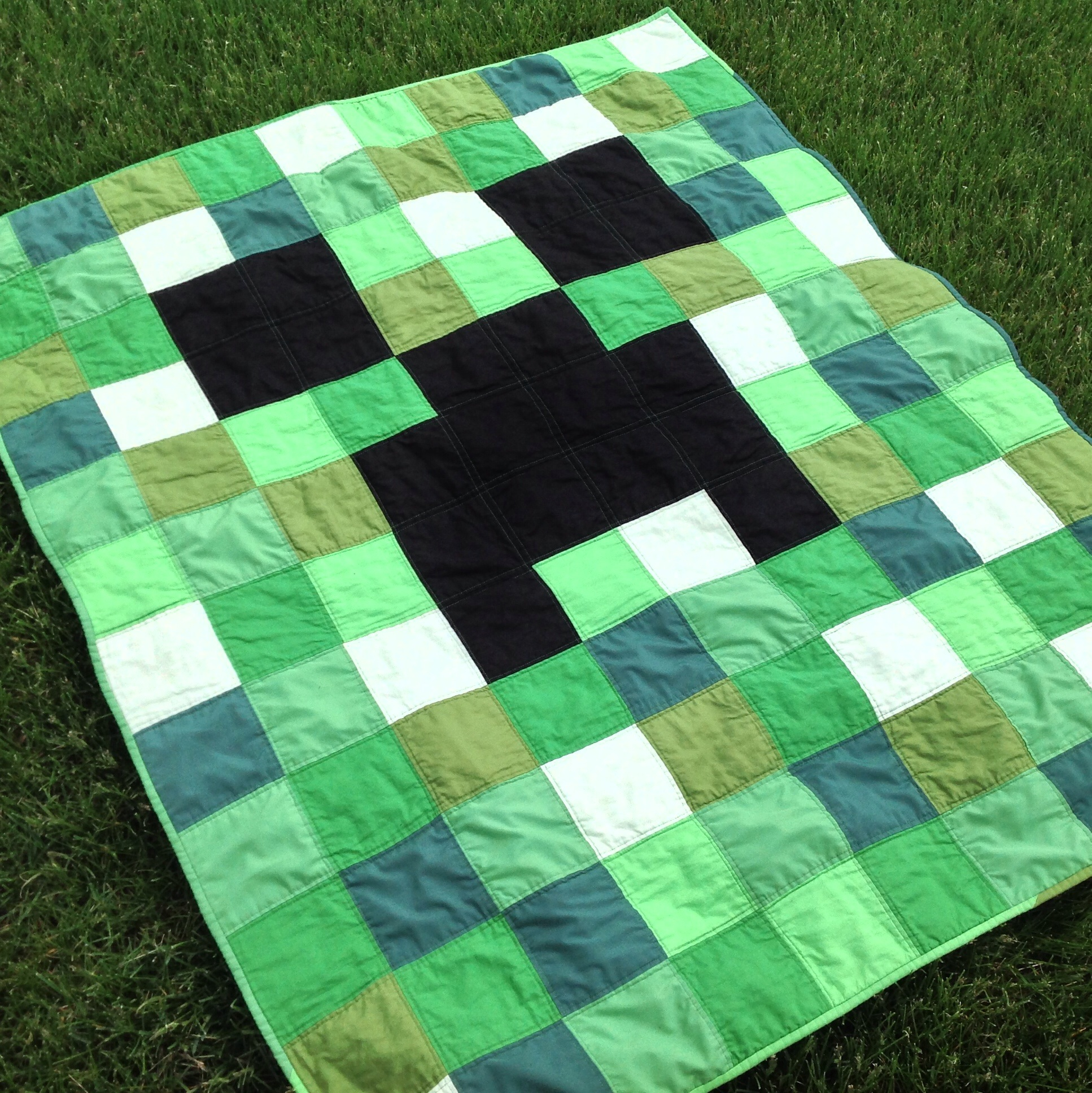 Minecraft Creeper Quilt Sewmod
