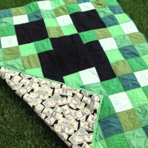 SewMod minecraft creeper quilt