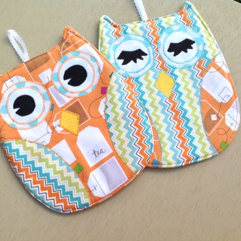 Hot who owl hot pads tutorial