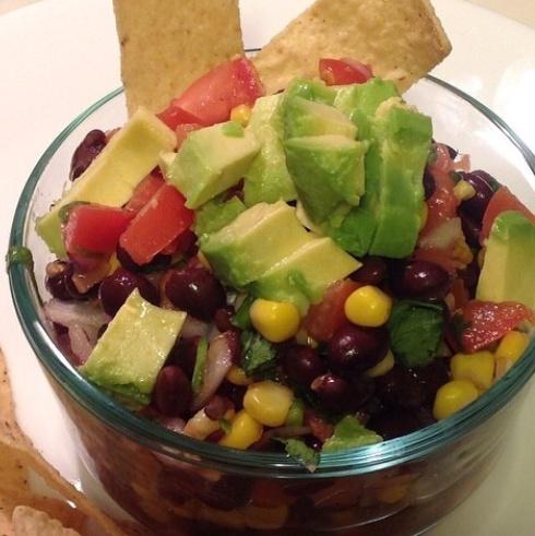 SewMod Black bean salsa