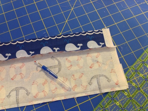 SewMod true blue baby quilt kit