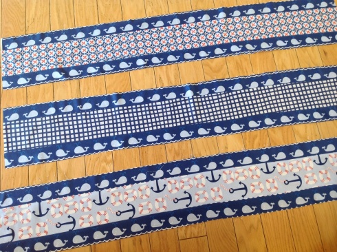 SewMod true blue whales baby quilt kit