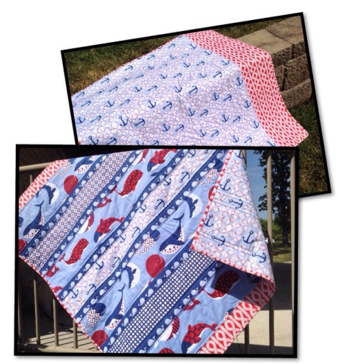SewMod true blue quilt kit