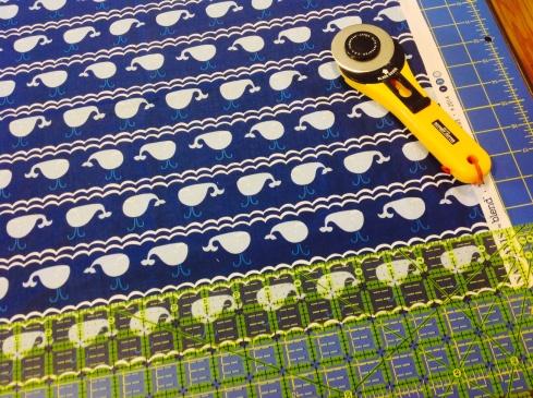 SewMod true blue baby quilt