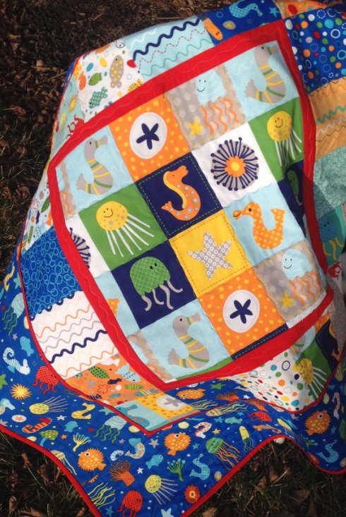In The Ocean baby quilt