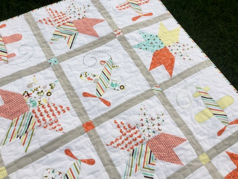 oh boy baby quilt kit sewmod