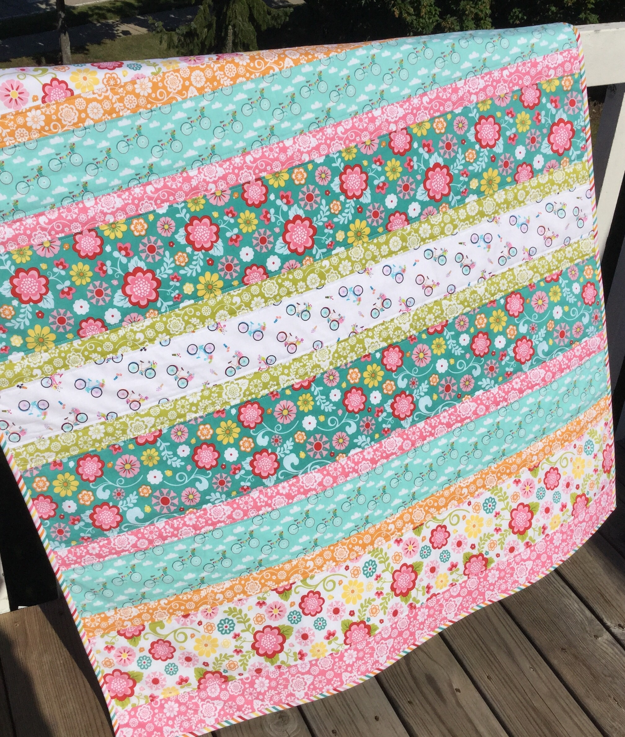Bicycle Quilt Sewmod