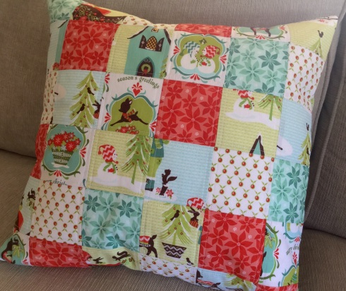 Alpine wonderland pillow tutorial