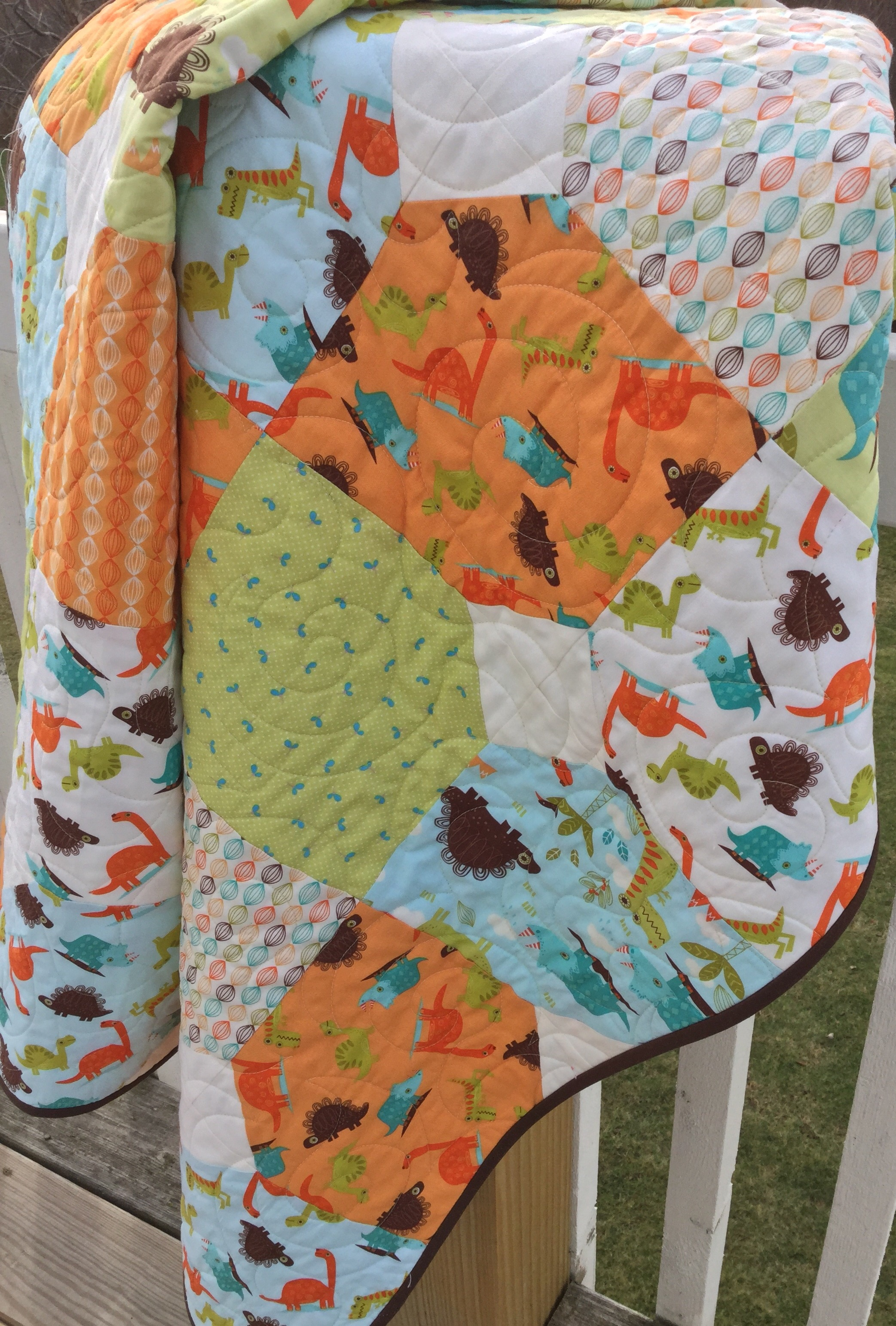 Easy Baby quilt kits | SewMod : dinosaur baby quilt - Adamdwight.com