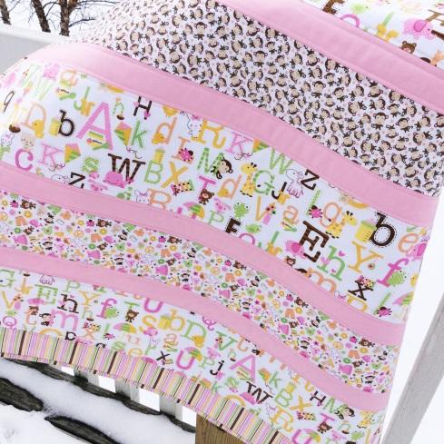 Sweet baby girl quilt kit