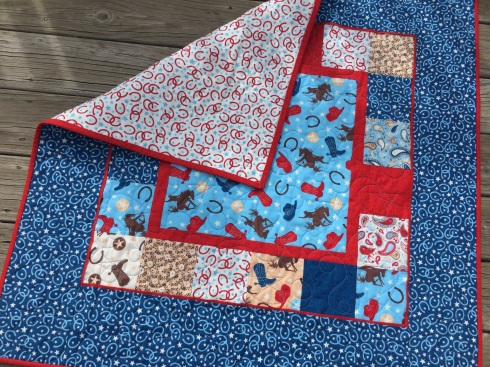 Rodeo rider baby quilt kits