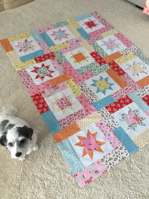 Milk sugar flower quilt kits